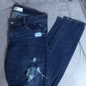 Abercrombie skinny distressed jeans